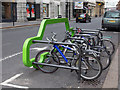NZ2463 : Bicycle rack on Collingwood Street by David P Howard