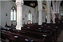 TQ2374 : St John the Evangelist, Putney - North arcade by John Salmon