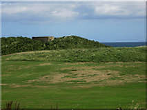 NU2422 : Pillbox in the dunes, Embleton Bay by Graham Robson