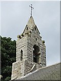 NY9393 : St. Cuthbert's Church, Elsdon - bell tower by Mike Quinn