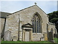 NY9393 : St. Cuthbert's Church, Elsdon - south transept (exterior) by Mike Quinn