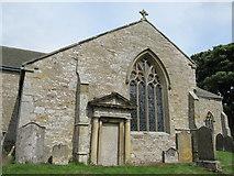 NY9393 : St. Cuthbert's Church, Elsdon - south transept (exterior) by Mike Quinn