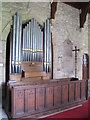 NY9393 : St. Cuthbert's Church, Elsdon - organ by Mike Quinn