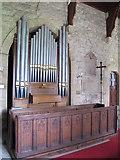 NY9393 : St. Cuthbert's Church, Elsdon - organ by Mike Quinn