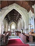 NY9393 : St. Cuthbert's Church, Elsdon - chancel and nave by Mike Quinn