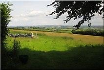 SS8928 : Farmland northeast of Chilcott by Derek Harper
