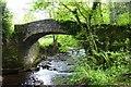 SS8945 : Horner Packhorse Bridge over Horner Water by Steve Daniels