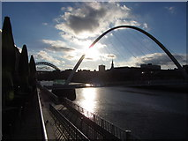 NZ2563 : Millennium Bridge, Gateshead in the evening by Gareth James