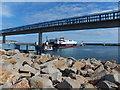 SC3875 : Douglas Harbour - the Mannanan and MV Karina by Richard Hoare