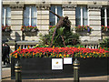 SP0686 : Floral tribute to Usain Bolt, Victoria Square B3 by Robin Stott