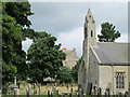 NY9393 : St. Cuthbert's Church, Elsdon - graveyard by Mike Quinn