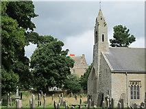 NY9393 : St. Cuthbert's Church, Elsdon - graveyard by Mike Quinn