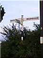 TM0883 : Roadsign on Lady's Lane by Adrian Cable