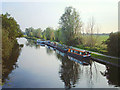 TL5064 : Boats moored on the River Cam at Clayhithe by Rose and Trev Clough