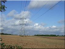 SK7060 : Farmland and pylon by JThomas
