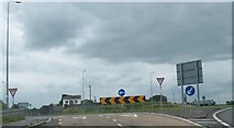 N4238 : Roundabout at the cross roads of the N52 and the R446 by Eric Jones