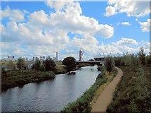 TQ3784 : River Lea, Olympic Park by Paul Gillett