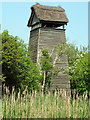 TL5570 : The Tower Hide beside Wicken Lode by Rose and Trev Clough