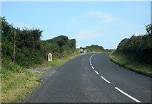SW7552 : Cornwall B3284 Milestone Near Perranporth by Roy Hughes