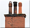 J3773 : Chimney and chimney pots, Ballyhackamore, Belfast by Albert Bridge