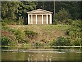 SK6274 : Clumber Lake and Greek Garden Temple by David Dixon