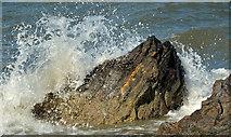 J4482 : Rocks and waves, Helen's Bay (2) by Albert Bridge