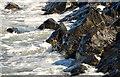 J4482 : Rocks and waves, Helen's Bay (3) by Albert Bridge