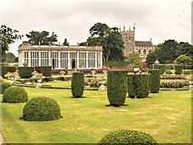 SK9239 : Italian Garden, Orangery and Church, Belton House by David Dixon