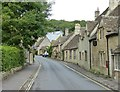 ST8477 : View up The Street from near to By Brook bridge by Rob Farrow