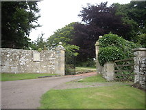NY9393 : Entrance gateway to 'The Tower', Elsdon by Stanley Howe