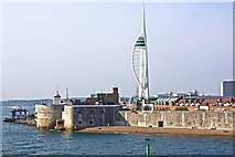 SZ6299 : The Point Battery, Portsmouth Harbour by Paul Buckingham
