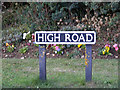 TM0881 : High Road sign by Adrian Cable