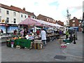 SK9135 : Grantham, Street Market on Westgate by David Dixon