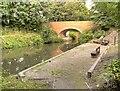 SK8833 : Harlaxton Wharf and Bridge, Grantham Canal by David Dixon