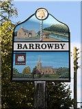 SK8836 : Barrowby Village Sign by David Dixon