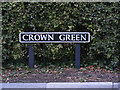 TM1383 : Crown Green sign by Adrian Cable