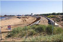 NZ3668 : Littlehaven promenade and seawall by David P Howard
