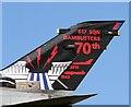 NJ2170 : A 70th anniversary Dambusters 1943-2013 tail marking by Walter Baxter