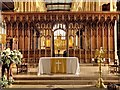 SK7953 : The Church of St Mary Magdalene, Nave Altar and Rood Screen by David Dixon