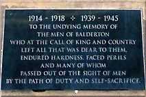 SK8151 : War Memorial Plaque Dedication, Balderton by David Dixon