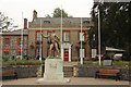 TL8683 : King's House & Thomas Paine statue by Richard Croft