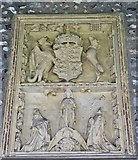 SU8504 : Royal Arms of Henry VII plaque in the cloisters by Rob Farrow