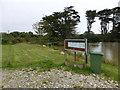 SW4837 : Fishery at Amalwhidden farm by David Medcalf