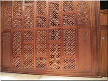 SP5206 : Oxford Centre for Islamic Studies, carved wood screen by David Hawgood