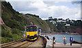 SX9573 : Railway near Sprey Point by Stuart Wilding