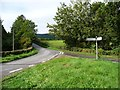 SO3206 : Road junction between Coed Abergwenllan and Llwch by Christine Johnstone