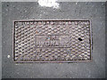 TQ3276 : Cast iron fire hydrant cover, Orpheus Street, Camberwell Green by Robin Stott