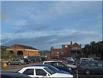 SX9193 : Exeter Brewery and former engine sheds by David Smith