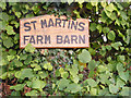 TM1283 : Martins Farm Barn sign by Adrian Cable