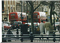 TQ2580 : A pair of 94 Routemasters on Notting Hill Gate, 2002 by David Howard